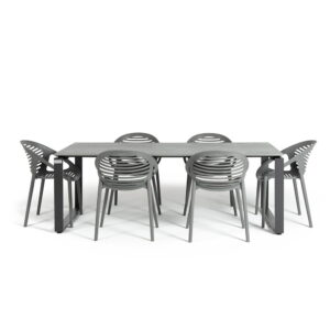 Set mobilier de grădină cu 6 scaune Le Bonom Joanna Strong