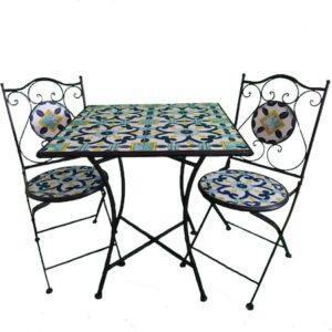 set mobilier gradina terasa fier forjat ceramica